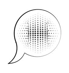 Speech bubble message pop art isolated icon vector