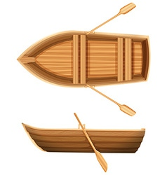 A top and side view of a boat vector image vector image