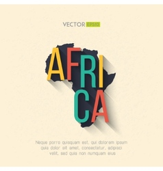 africa map in flat design African border vector image