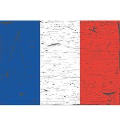 France flag grunge vector image vector image