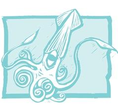 Giant Squid vector image