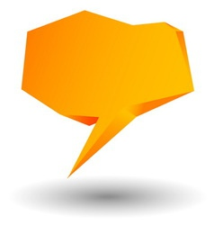 3d speech bubble for your business website vector image