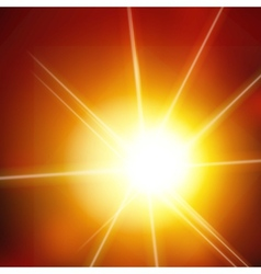 abstract background with sun and lens flares vector image