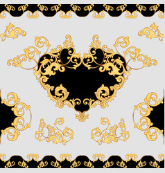 baroque decorative element seamless pattern vector image vector image