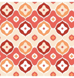 Golden ikat geometric seamless pattern background vector