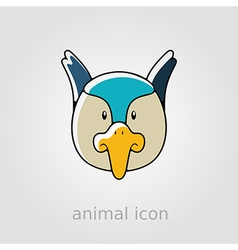 Pheasant flat icon Animal head vector image vector image