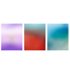 set of multicolored blurred backgrounds vector image