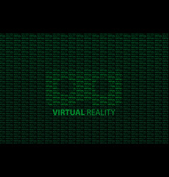 virtual reality glasses vector image