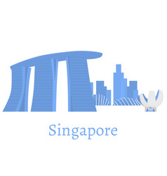 flat building of republic of singapore travel vector image