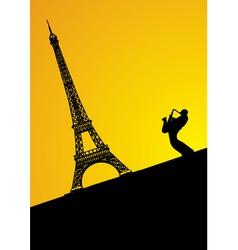 jazz trumpeter in paris vector image vector image