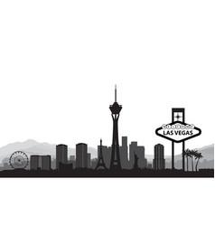 Las vegas skyline travel american city landmark vector