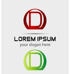 Letter D logo Creative concept icon vector image