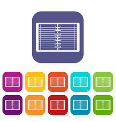 Open spiral lined notebook icons set flat vector