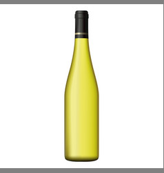 White wine bottle isolated on white background vector
