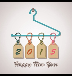 2015 word hanging on a hanger vector