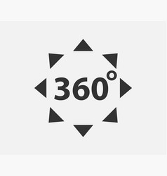 360 degree view icon vector image
