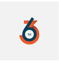 63 th anniversary template design vector