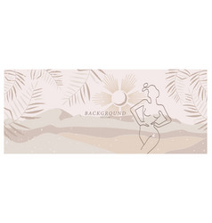 abstract background art with nude woman in nature vector image