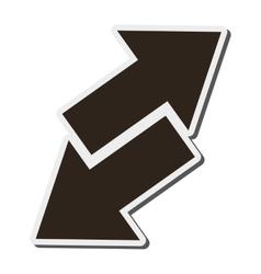 Arrows opposite ways icon vector