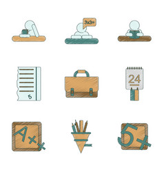 Assembly flat shading style icon education school vector