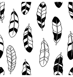 Aztec feathers seamless pattern Tribal ornament vector image