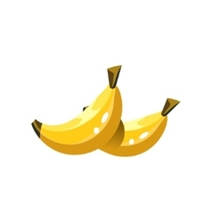 Banana Bright Color Simple vector