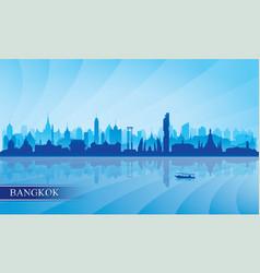 Bangkok city skyline silhouette background vector