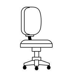 Bank work chair comfortable isolated black and vector