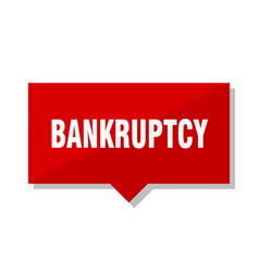 Bankruptcy red tag vector