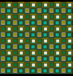 Blue green brown mod squares geometric seamless vector