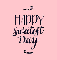 calligraphy sweet day logo simple style vector image