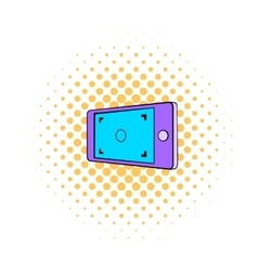 Camera viewfinder icon comics style vector