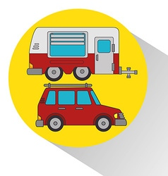 Camping outdoor vector