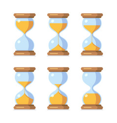 cartoon hourglass antique sand clock sprite sheet vector image