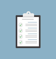 Check list clipboard in flat style vector