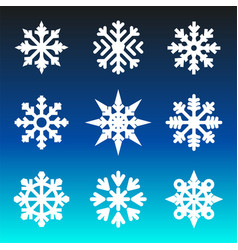 christmas winter snowflakes vector image