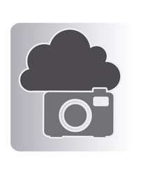 cloud camera network icon vector image