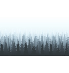 Coniferous forest silhouette template Woods vector