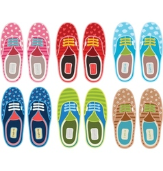 Cute cartoon hipster gumshoes set vector