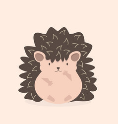 cute flat hedgehog cartoon character vector image