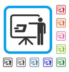 dash board presentation person framed icon vector image