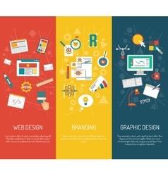 Designer banner set vector