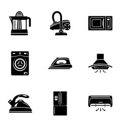 Device at home icons set simple style vector