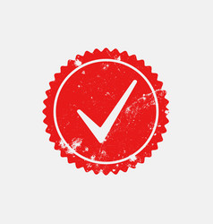 distressed checkmark stamp 7 vector image