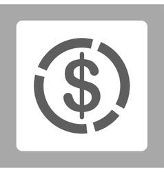 Dollar Diagram Icon vector
