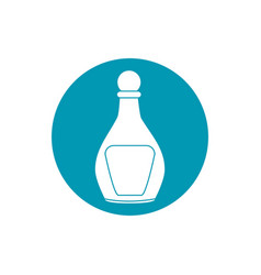 drinks liquor glass bottle with lid blue block vector image