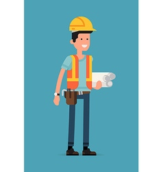 Engineer Character Icon vector image