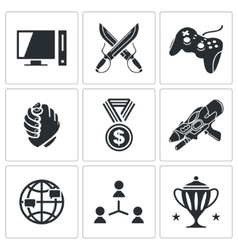 eSports icons set vector image