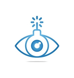 eye circle eyeball symbol vector image