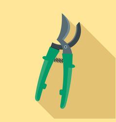 farm secateurs icon flat style vector image